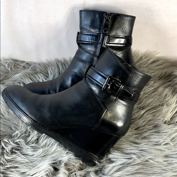 Geox leather Ankle wedge boots